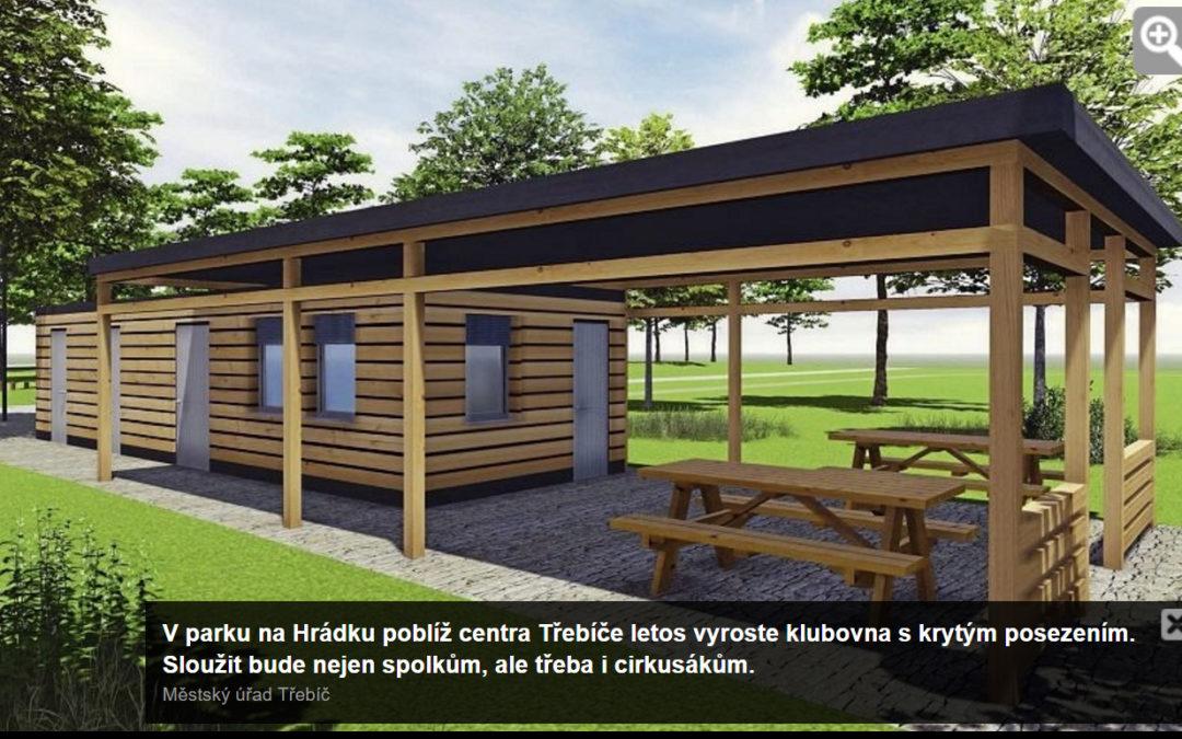 Z parku do bývalé kotelny. Dům dětí v Třebíči uvolnil místo nové klubovně