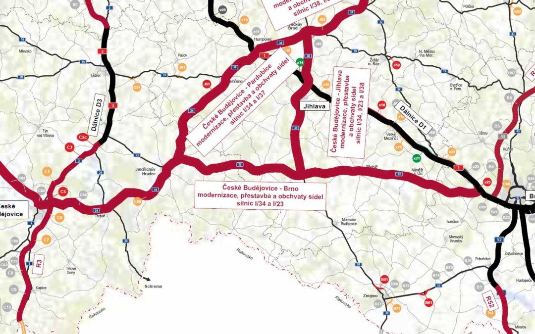 Nová dálnice obkrouží Česko po obvodu a spojí krajská města, plánuje stát
