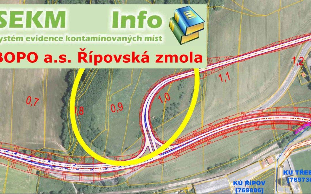 """Obchvat Třebíče – skládka """"BOPO – Řípovská zmola"""" by mohla ohrozit stavbu průchvatu"""
