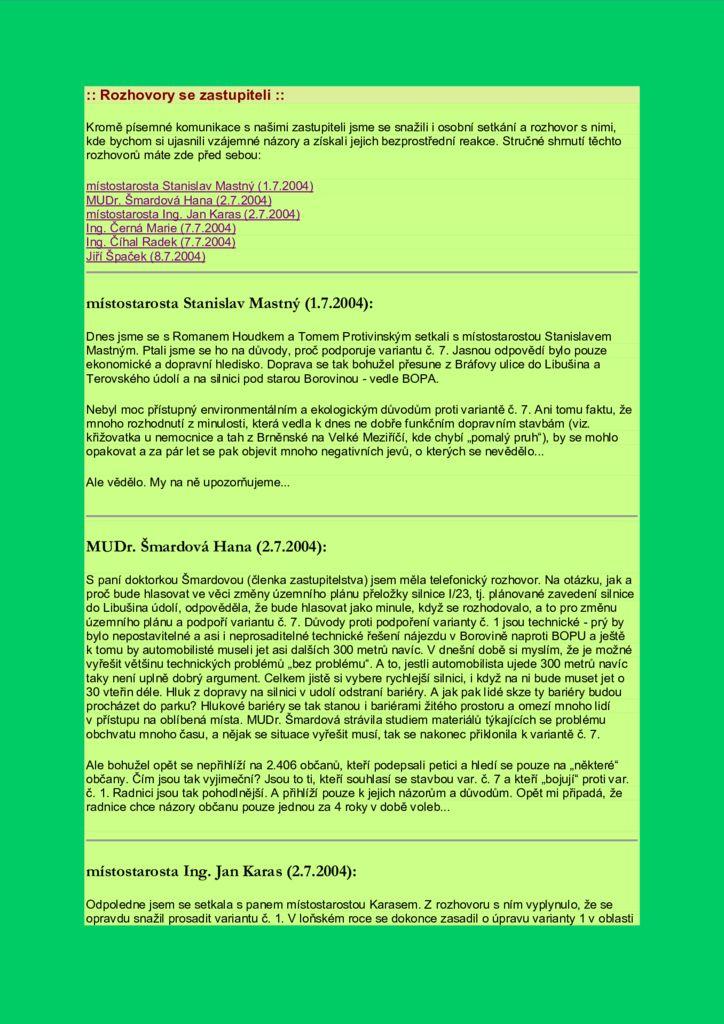 thumbnail of Rozhovory se zastupiteli 2004