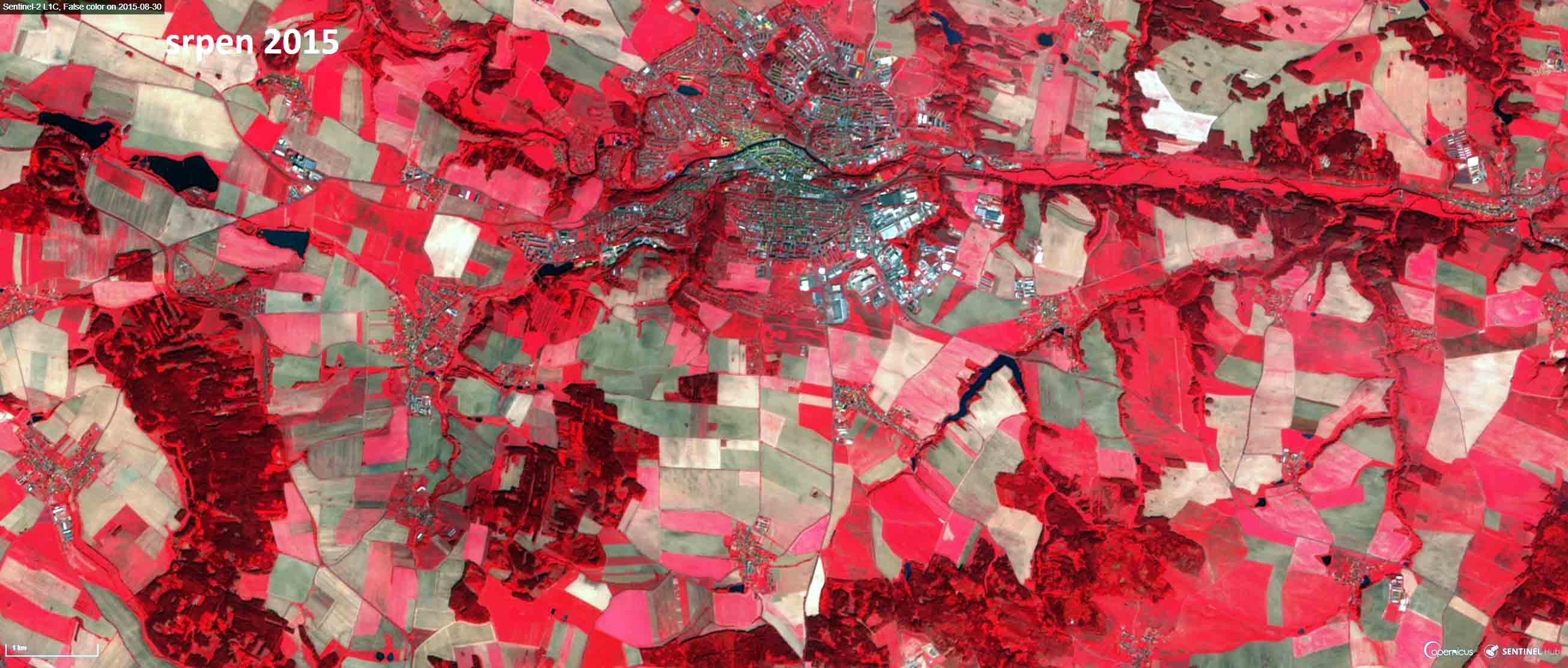 Snímek z roku 2015 v infračerveném pásmu