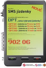 Ukázka systému SMS jízdenek