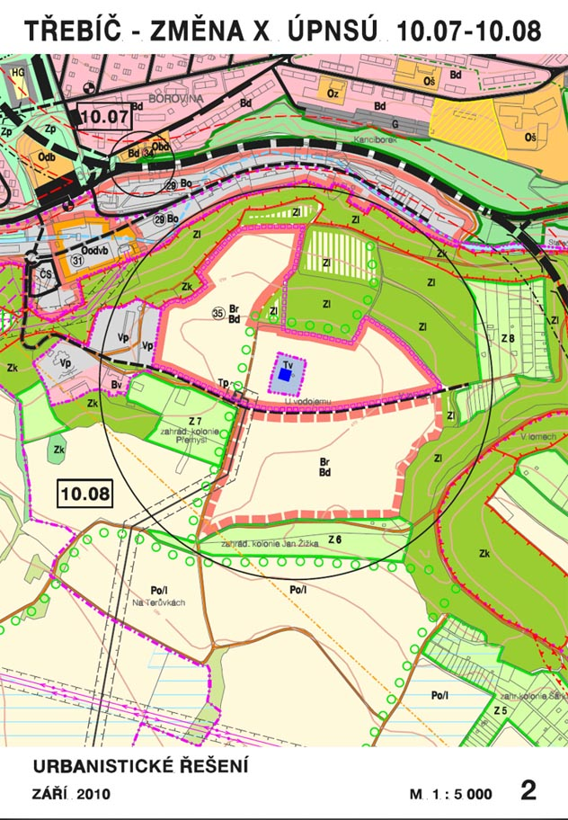 Změna územního plánu města Třebíče z roku 2010
