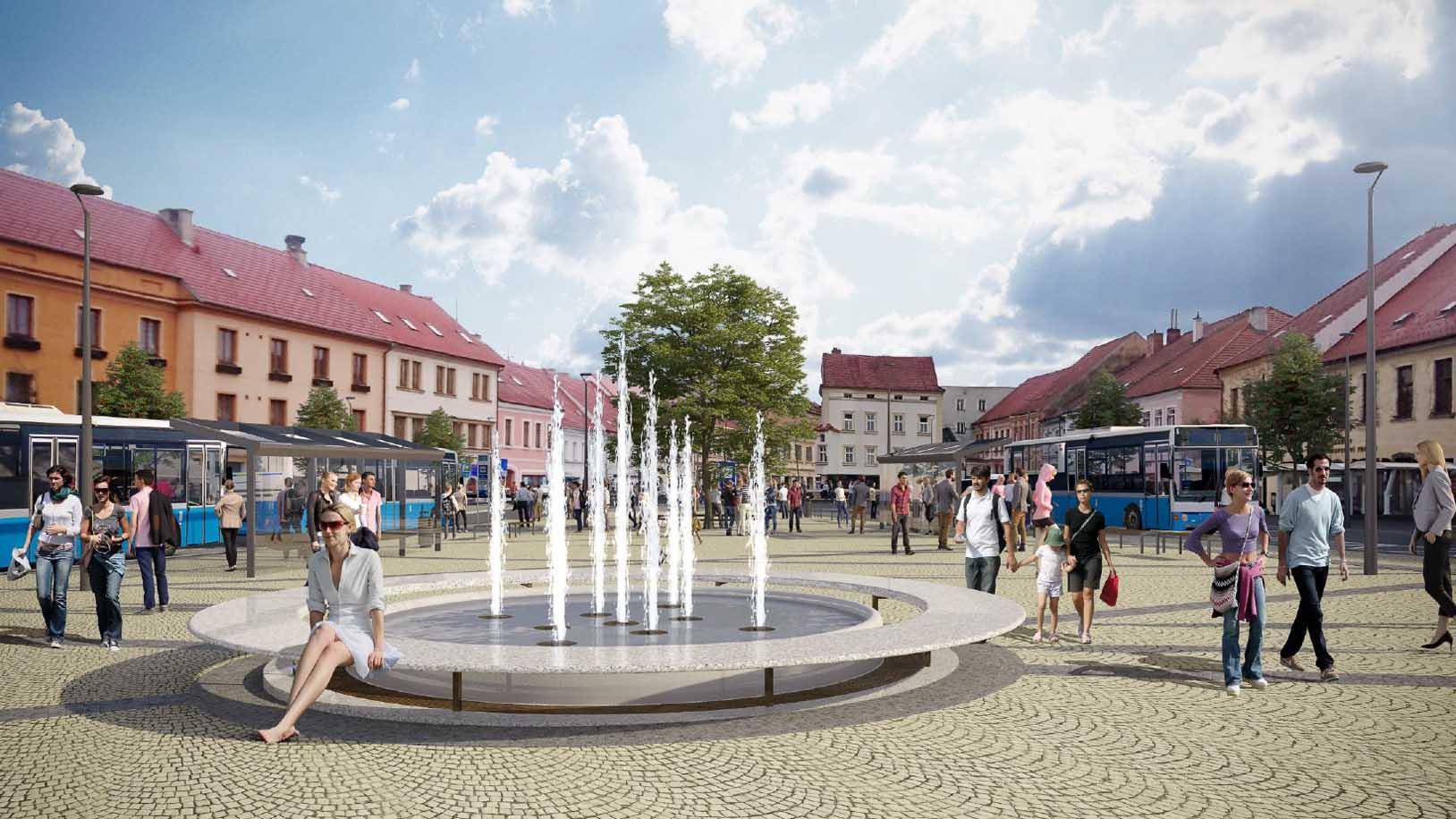 Revitalizace Karlova náměstí - východní část - autobusový terminál