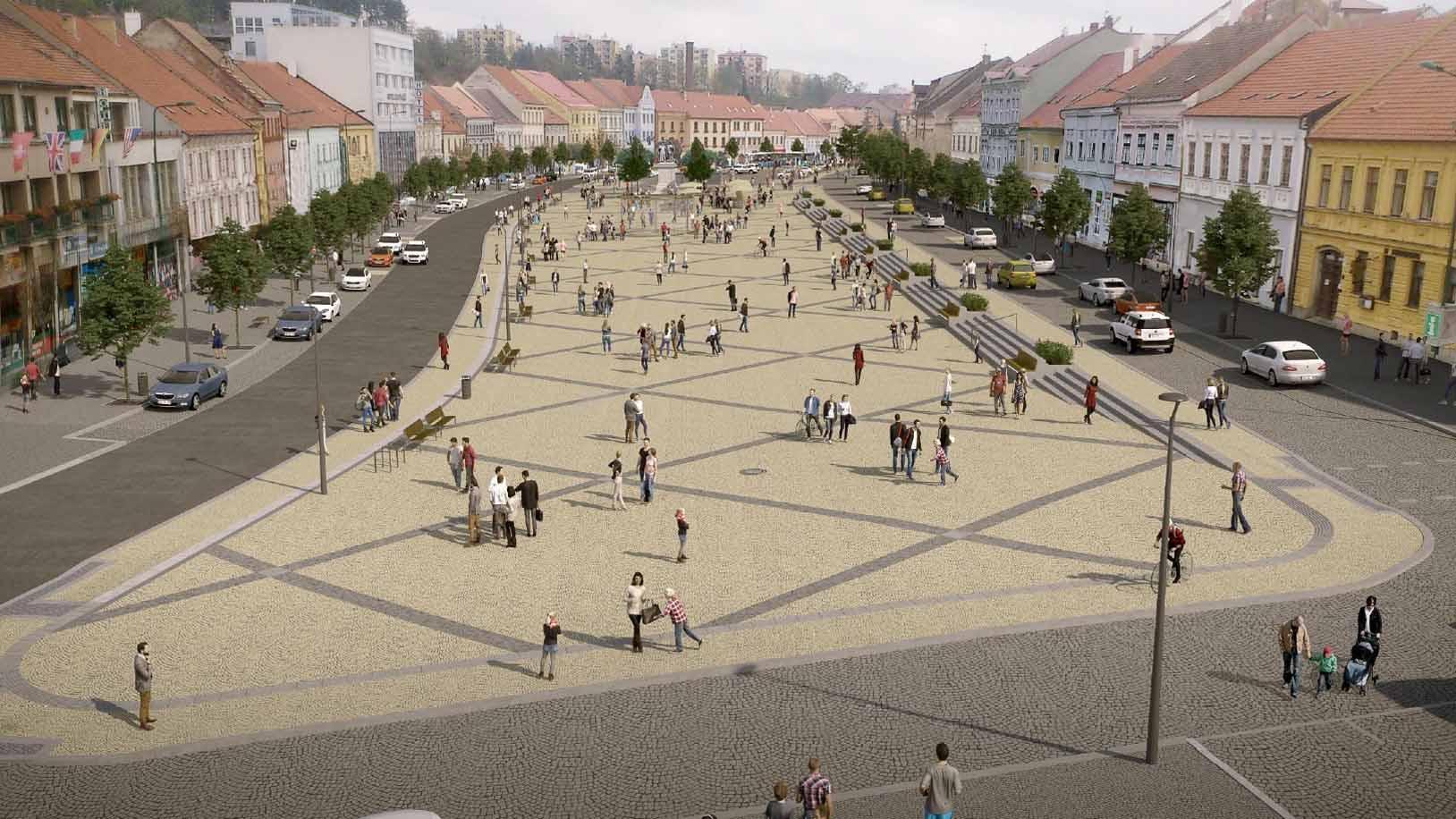 Revitalizace Karlova náměstí - západní část - pohled od radnice