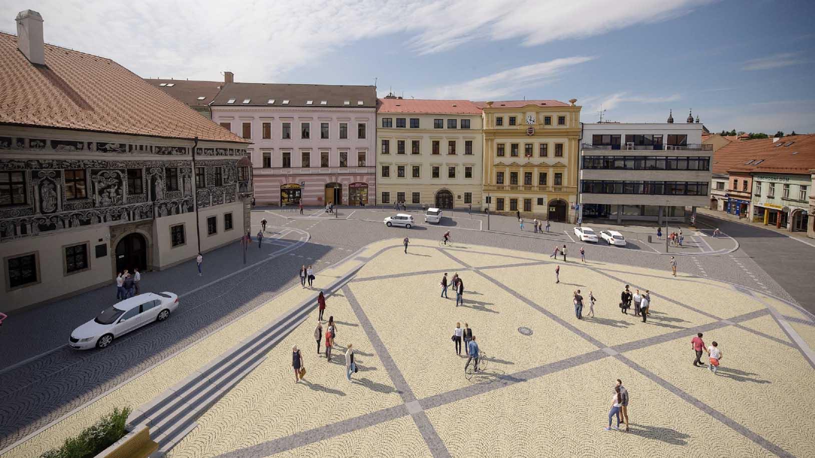 Revitalizace Karlova náměstí - západní část - prostor před radnicí