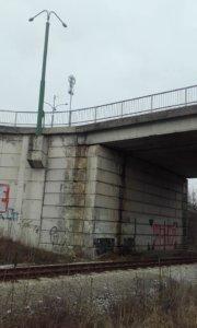 Stav mostní konstrukce na Hrotovické ulici