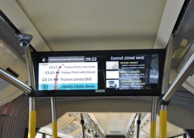 Moderní informační systém v autobusu MHD