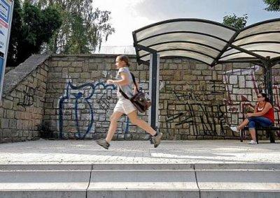 Bezbariérová zastávka v Jihlavě