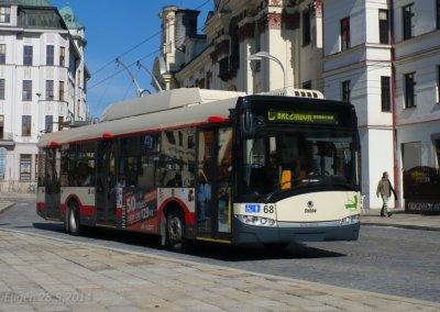 Trolejbus pořízený z evropských dotací