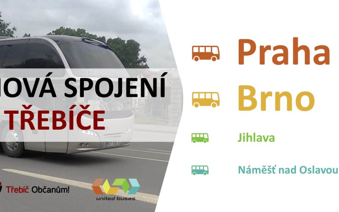 Od 1. června nově z Třebíče do Prahy autobusy UNITED BUSES